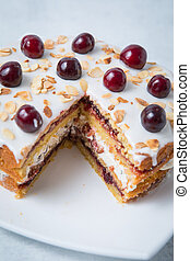 Close Up Cherry Cake