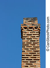 Close up chimney on the roof