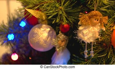 Close up Christmas tree background.
