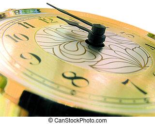 Close up Clock face