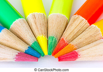 Close up-colour pencils