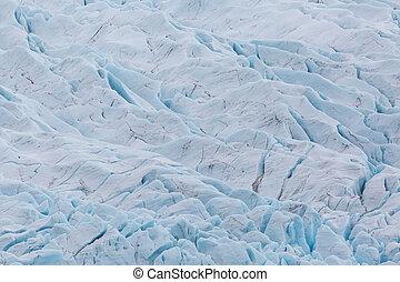 close-up crevasses of Vatnajokull glacier in Iceland