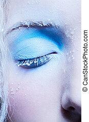 close-up, de, fantasia, maquiagem