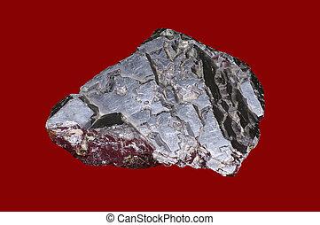 close-up, de, galenite, (lead, glance)