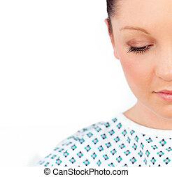 close-up, de, um, dejected, paciente