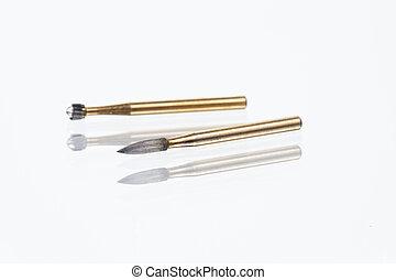 Close up Dental carbide bur tool
