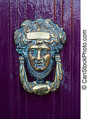 Detail of brass Door Knocker