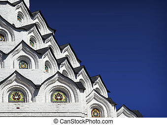 Close-up detail of Church the Holy Apostles Peter and Paul