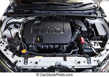 Close up detail of modern car engine(select focus)