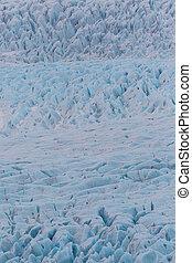 detailed structure of Vatnajokull glacier surface in Iceland