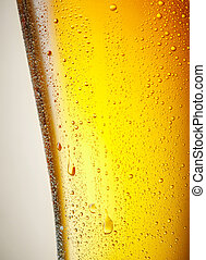 drops of a Ice Cold Pint of Beer