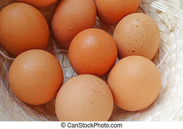 Close-up Eggs in hat