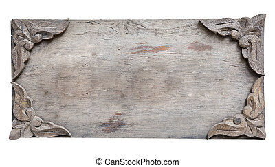 close up empty wooden sign