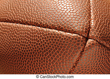 Close-up, End of Football  Showing Texture