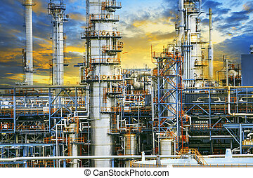 close up exterior strong metal structure of oil refinery plant i