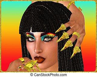 close up face and nails