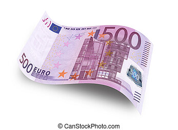 euro banknote - Close up five hundred euro banknote....