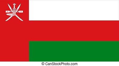 close up flag of Oman