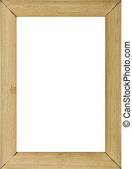 close-up., fond, cadre, blanc, bois, isolé