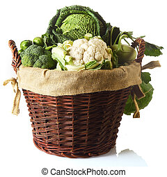 Close up Fresh Farm Vegetables in a Basket