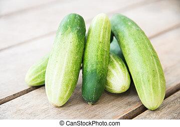 close up fresh green cucumber.