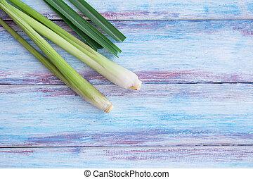Close up fresh organic lemongrass