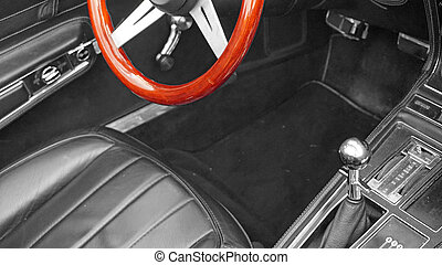 close up from an old car - historical old vehicle