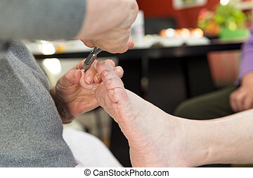 home visit of the chiropodist
