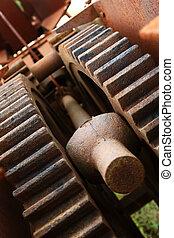 Close up gears