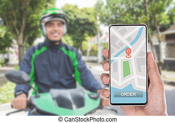 motorcycle taxi via mobile phone application