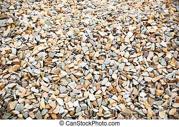 Close-up gravel rocks