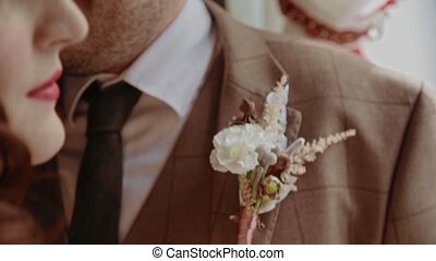 Close-up groom accessory