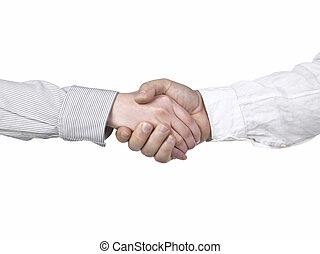 hand shake of two businesspeople
