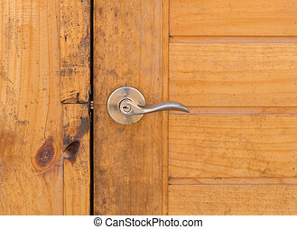 handle of wood door