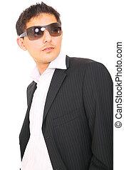 Close Up Handsome Fashion Model