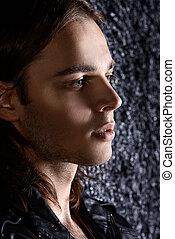 close-up handsome man