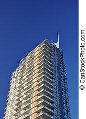 Close-up high raise building view