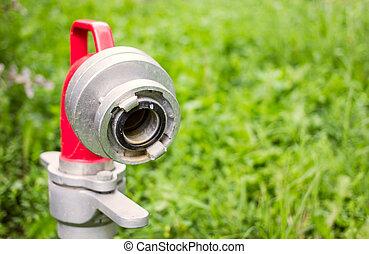 close up hydrant nozzle