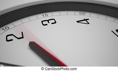 Close up hyperlapse rotation shot of clock hands. 4K footage