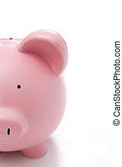 close-up, i, piggy bank