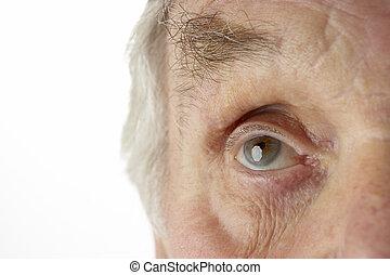 close-up, i, senior mand