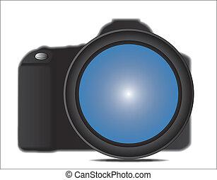 Close up illustration of SLR Camera