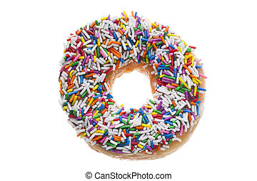donut with candy sprinkles