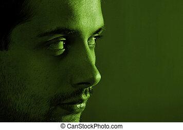 Close-up image of a man face