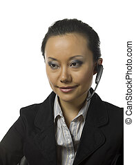 a stressed female operator