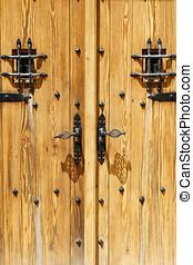 close up image of ancient wooden door