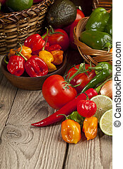 assorted kinds of mexican vegetables