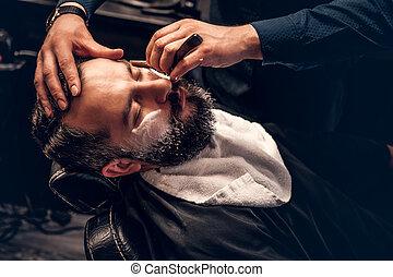 Close up image of barber