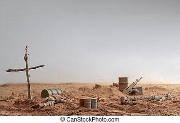 soldiers died on war
