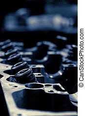 close up image of car engine valve